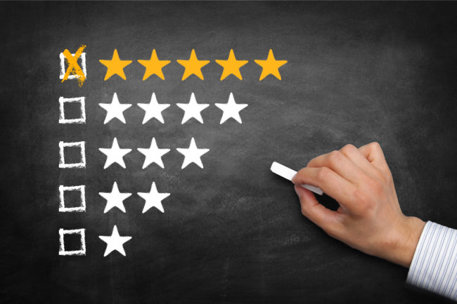 Five start online review image