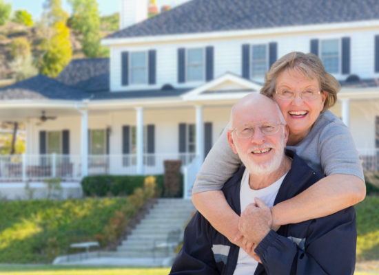 senior couple house image